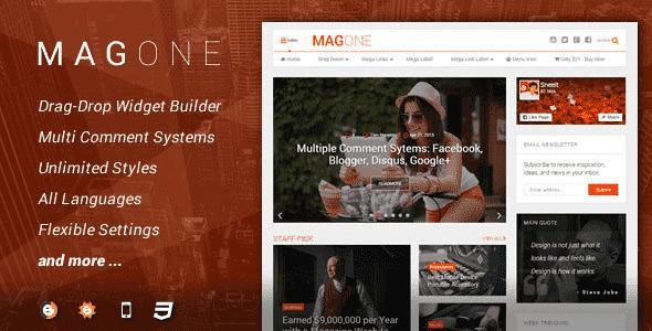 Template Blogspot MagOne V6.2.6 dùng làm tin tức