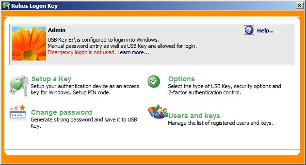 Phần mềm mở khóa máy tính Rohos Logon Key
