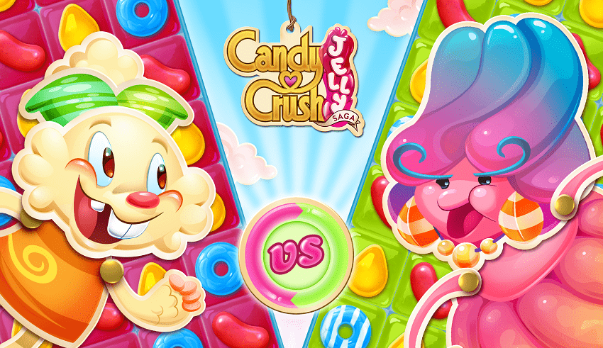 Games Candy Crush Jelly Saga MOD cho android
