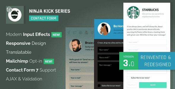 Plugins Contact Form Ninja Kick cho WordPress