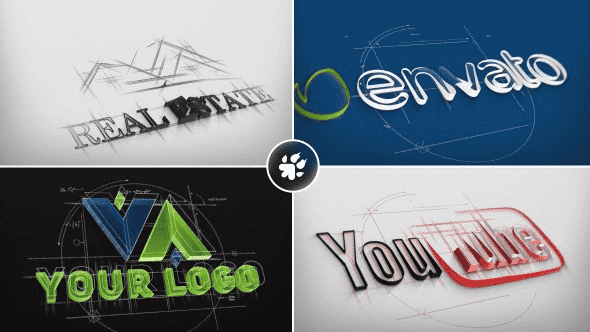 Projects Logo kiến trúc Sketch cho after effects