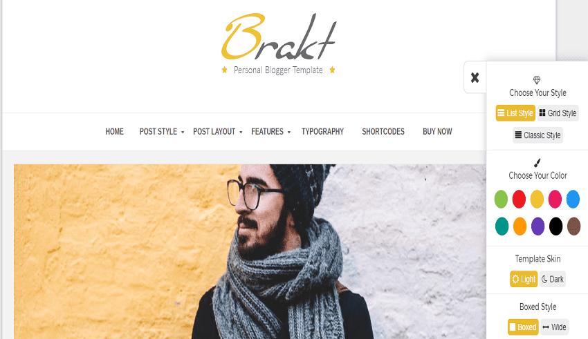 template bloger Brakt-Personal