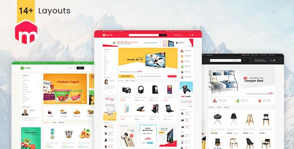 Themes Mega Shop - làm web bán hàng cho wordpress