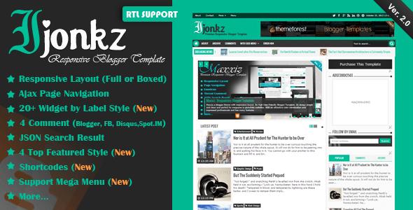 Template Ijonkz - Responsive tin tức, tạp chí cho Blogger