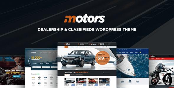 Theme Motors - Ô tô, Xe hơi, Xe, Đại lý Tàu, Rao vặt cho WordPress