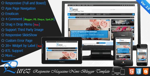 Template Purez – Responsive Magazine Blogger