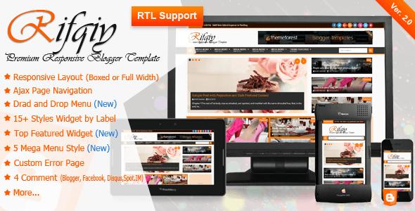 Template Rifqiy - Responsive Magazine/News cho Blogspot