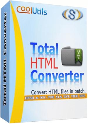 Chuyển đổi định dạng HTML với CoolUtils Total HTML Converter