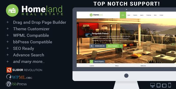 Theme Bất động sản Homeland - Premium Responsive WordPress
