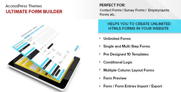 Tạo form với Plugin Ultimate Form Builder v1.1.4 cho wordpress
