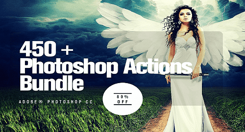 450 Add-Ons Actions Bundle cho photoshop
