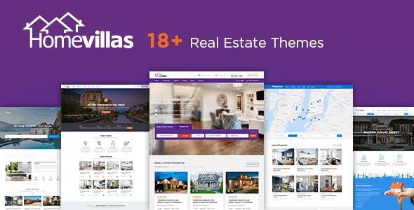 Themes bất động sản Home Villas – Responsive cho WordPress