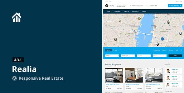 Theme bất động sản Realia - Responsive cho wordpress