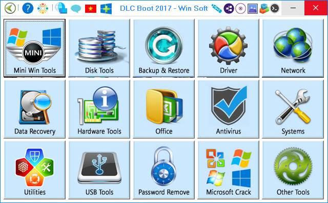 Công cụ cứu hộ máy tính đa năng nhất DLC Boot 2017