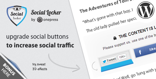 Plugin Khóa nội dung Social Locker cho WordPress