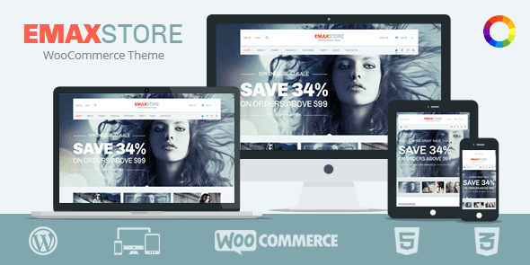 Theme eMaxStore – Multipurpose eCommerce cho wordPress