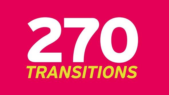 Hơn 270 Transitions dành cho các công cụ thiết kế khác nhau