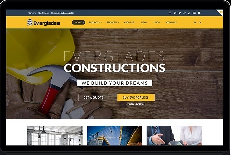 Theme Everglades - Professional Construction WordPress