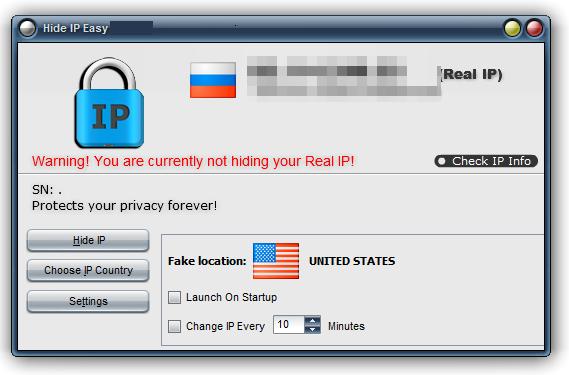 Phần mềm truy cập website ẩn danh Hide IP Easy