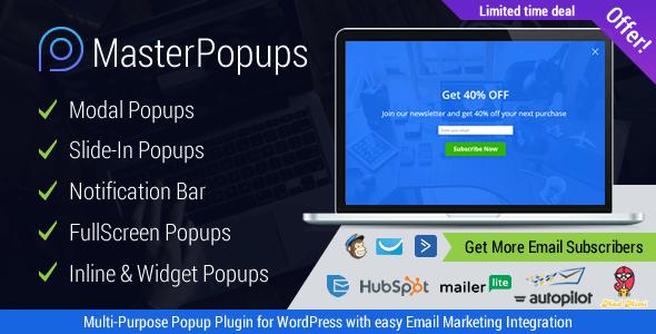 Plugin Master Popups