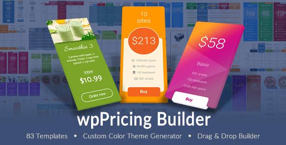 Plugin bảng giá wpPricing Builder Responsive cho WordPress