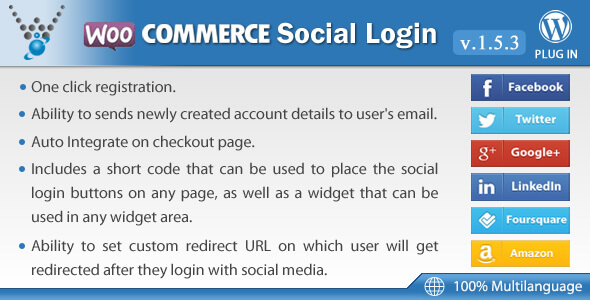 Plugin WooCommerce Social Login cho wordpress
