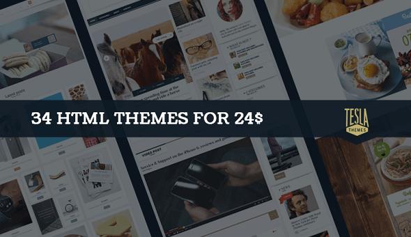 Chia sẻ 34+ mẫu Themes HTML cực chất từ TeslaThemes - greedeals