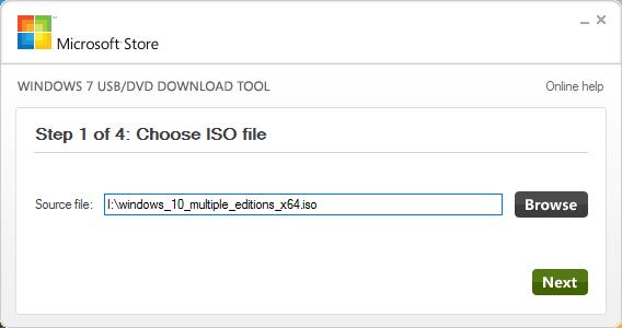 Hướng dẫn tạo USB cài Windows 7, 8, 10 bằng Windows 7 USB DVD