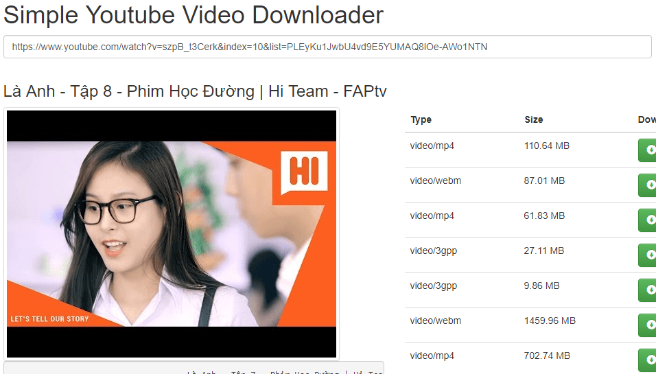 Script Simple Youtube Video Downloader