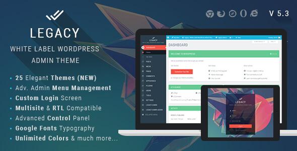 Plugins Legacy – Thay đổi giao diện trang admin wordpress