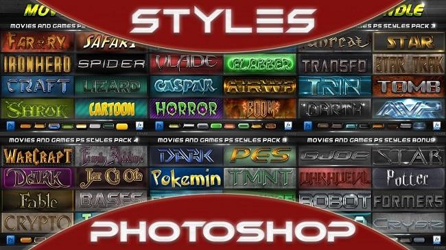 Chia sẻ 1500 Styles Pack cho Photoshop tất cả các phiên bản
