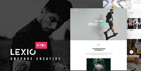 HTML5 Template Lexio - Responsive Onepage Creative