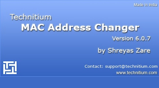 Phần mềm Technitium MAC Address