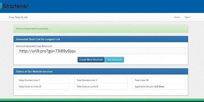 ShortLink Premium URL Shortner ASP.Net Project