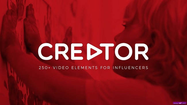 Creator: 250+ Elements for Influencers and Vloggers - Motion Graphic
