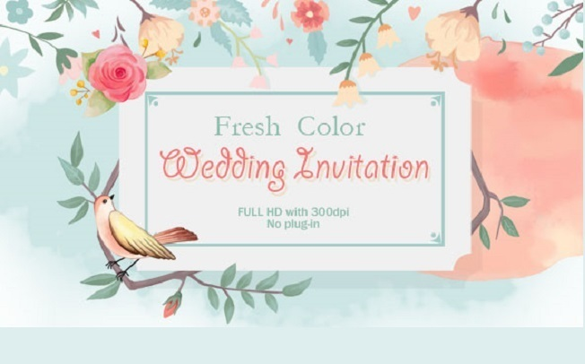 Fresh Color Wedding Invitation - Project for After Effects