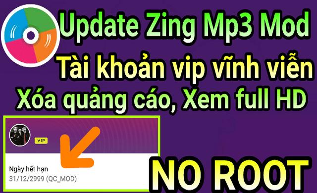 Phần mềm zingmp3 Mod VIP cho android