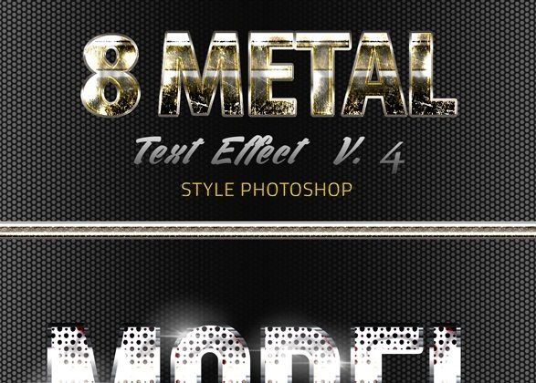 8 Metal Text Effect v4 Styles photoshop