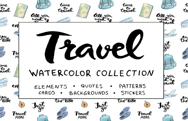 Bộ Travel giành cho Illustrations creativemarket