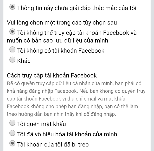 tải bản sao lưu facebook