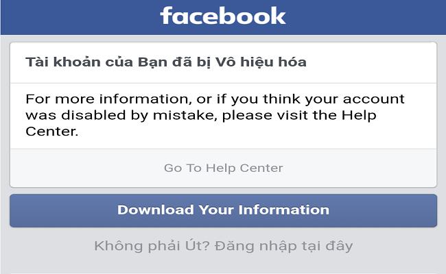 Hướng dẫn tải bản sao lưu dữ liệu facebook cá nhân khi tài khoản bị khóa