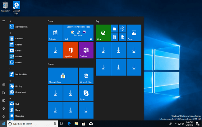 Windows 10 Redstone 5 17672
