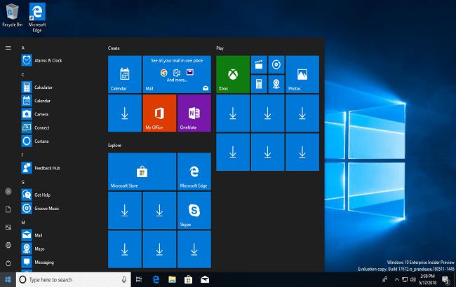 Windows 10 Redstone 5 17672