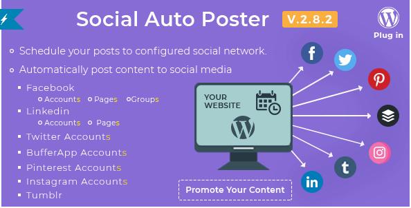 Plugin tự động đăng bài Social Auto Poster wordpress