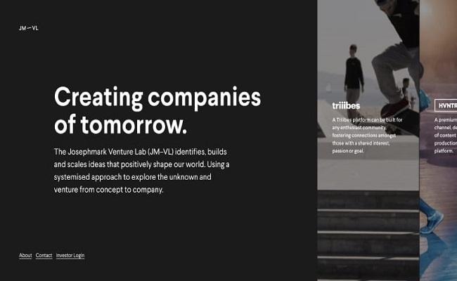 Các ví dụ trang web cuộn ngang giúp tạo nguồn cảm hứng