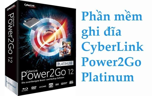 Phần mềm CyberLink Power2Go Platinum