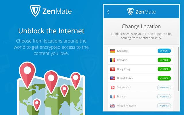 Ứng dụng ZenMate VPN