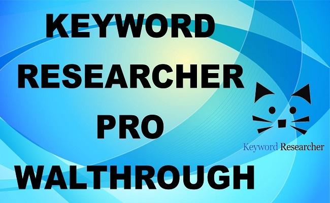 Phần mềm Keyword Researcher pro