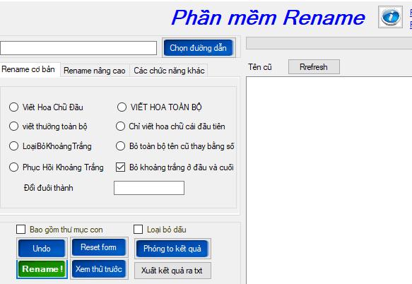 Phần mềm đổi tên file