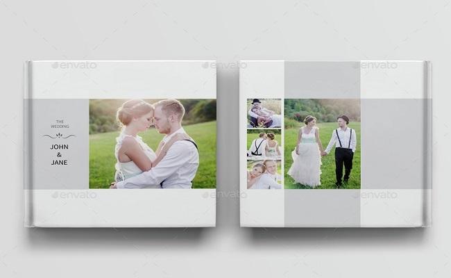 mẫu tập chí album ảnh cưới hình vuông